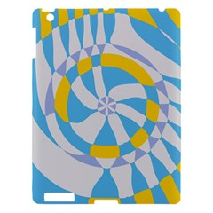Abstract Flower In Concentric Circles Apple Ipad 3/4 Hardshell Case by LalyLauraFLM