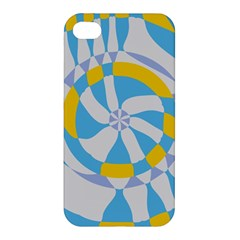 Abstract Flower In Concentric Circles Apple Iphone 4/4s Premium Hardshell Case by LalyLauraFLM