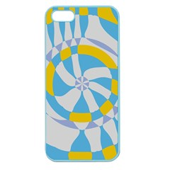 Abstract Flower In Concentric Circles Apple Seamless Iphone 5 Case (color) by LalyLauraFLM