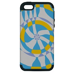 Abstract Flower In Concentric Circles Apple Iphone 5 Hardshell Case (pc+silicone) by LalyLauraFLM