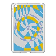 Abstract Flower In Concentric Circles Apple Ipad Mini Case (white) by LalyLauraFLM