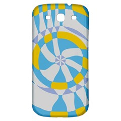 Abstract Flower In Concentric Circles Samsung Galaxy S3 S Iii Classic Hardshell Back Case by LalyLauraFLM