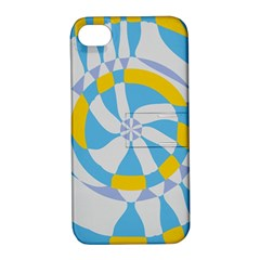 Abstract Flower In Concentric Circles Apple Iphone 4/4s Hardshell Case With Stand by LalyLauraFLM