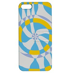 Abstract Flower In Concentric Circles Apple Iphone 5 Hardshell Case With Stand by LalyLauraFLM
