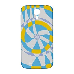 Abstract Flower In Concentric Circles Samsung Galaxy S4 I9500/i9505  Hardshell Back Case by LalyLauraFLM