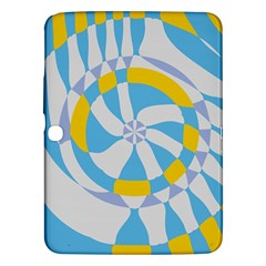 Abstract Flower In Concentric Circles Samsung Galaxy Tab 3 (10 1 ) P5200 Hardshell Case  by LalyLauraFLM