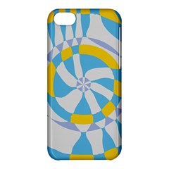 Abstract Flower In Concentric Circles Apple Iphone 5c Hardshell Case by LalyLauraFLM