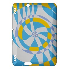 Abstract flower in concentric circles Kindle Fire HDX Hardshell Case by LalyLauraFLM