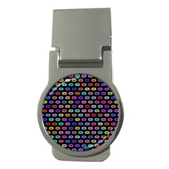 Colorful Round Corner Rectangles Pattern Money Clip (round) by LalyLauraFLM