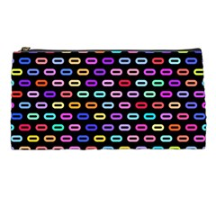 Colorful Round Corner Rectangles Pattern Pencil Case by LalyLauraFLM
