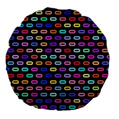 Shapes In Retro Colors 18  Premium Round Cushion  by LalyLauraFLM