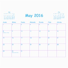 Ahooova By Leahrots   Wall Calendar 11  X 8 5  (12 Months)   E9wzoptw3e8c   Www Artscow Com May 2016