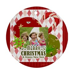 Xmas By Xmas   Round Ornament (two Sides)   15qtr6h644yx   Www Artscow Com Back
