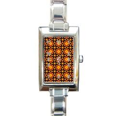 Cute Pretty Elegant Pattern Rectangle Italian Charm Watches by creativemom