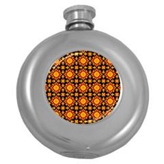 Cute Pretty Elegant Pattern Round Hip Flask (5 Oz) by creativemom