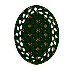 Cute Pretty Elegant Pattern Oval Filigree Ornament (2 Side)  by creativemom