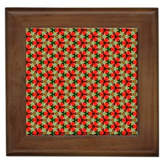 Lovely Trendy Pattern Background Pattern Framed Tiles by creativemom