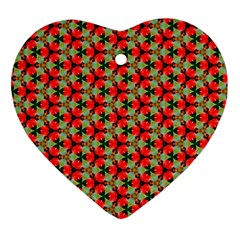 Lovely Trendy Pattern Background Pattern Heart Ornament (2 Sides) by creativemom