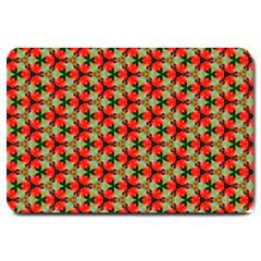Lovely Trendy Pattern Background Pattern Large Doormat  by creativemom