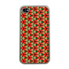 Lovely Trendy Pattern Background Pattern Apple Iphone 4 Case (clear) by creativemom