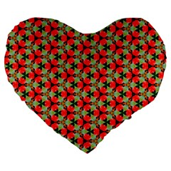 Lovely Trendy Pattern Background Pattern Large 19  Premium Heart Shape Cushions by creativemom