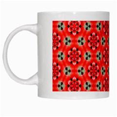 Lovely Orange Trendy Pattern  White Mugs by creativemom