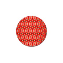 Lovely Orange Trendy Pattern  Golf Ball Marker by creativemom