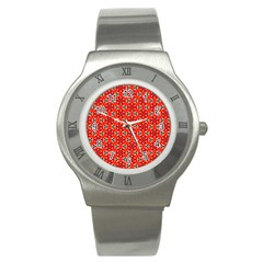 Lovely Orange Trendy Pattern  Stainless Steel Watches by creativemom
