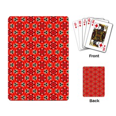 Lovely Orange Trendy Pattern  Playing Card by creativemom