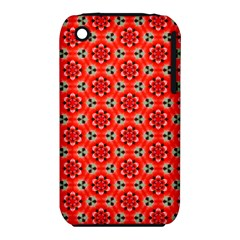 Lovely Orange Trendy Pattern  Apple Iphone 3g/3gs Hardshell Case (pc+silicone) by creativemom