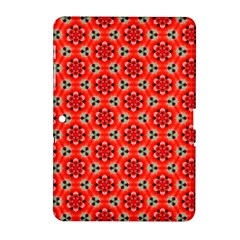 Lovely Orange Trendy Pattern  Samsung Galaxy Tab 2 (10 1 ) P5100 Hardshell Case  by creativemom