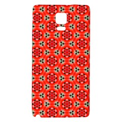 Lovely Orange Trendy Pattern  Galaxy Note 4 Back Case by creativemom