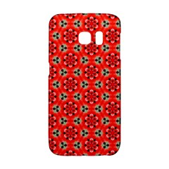 Lovely Orange Trendy Pattern  Galaxy S6 Edge by creativemom