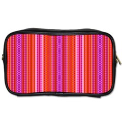 Orange Tribal Aztec Pattern Toiletries Bags 2 Side by creativemom