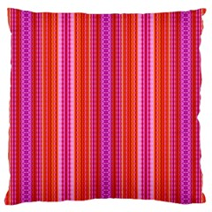 Orange Tribal Aztec Pattern Large Cushion Cases (one Side)  by creativemom