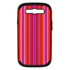 Orange Tribal Aztec Pattern Samsung Galaxy S Iii Hardshell Case (pc+silicone) by creativemom