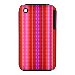 Orange Tribal Aztec Pattern Apple Iphone 3g/3gs Hardshell Case (pc+silicone) by creativemom