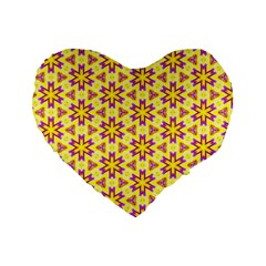 Cute Pretty Elegant Pattern Standard 16  Premium Flano Heart Shape Cushions by creativemom