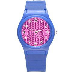 Cute Pretty Elegant Pattern Round Plastic Sport Watch (s) by creativemom