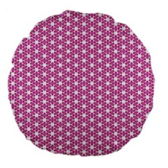 Cute Pretty Elegant Pattern Large 18  Premium Flano Round Cushions by creativemom