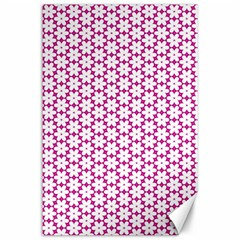 Cute Pretty Elegant Pattern Canvas 24  X 36  by creativemom