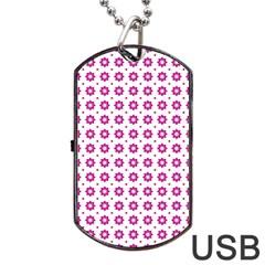 Cute Pretty Elegant Pattern Dog Tag USB Flash (One Side) by creativemom
