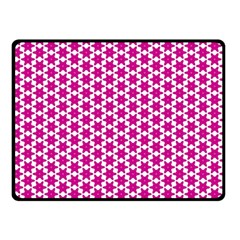Cute Pretty Elegant Pattern Double Sided Fleece Blanket (small)