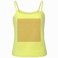 Cute Pretty Elegant Pattern Yellow Spaghetti Tanks by creativemom