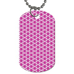 Cute Pretty Elegant Pattern Dog Tag (two Sides) by creativemom