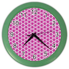 Cute Pretty Elegant Pattern Color Wall Clocks by creativemom