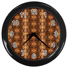 Faux Animal Print Pattern Wall Clocks (black) by creativemom
