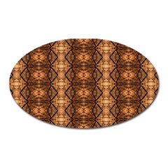 Faux Animal Print Pattern Oval Magnet by creativemom