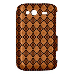 Faux Animal Print Pattern HTC Wildfire S A510e Hardshell Case by creativemom