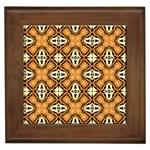 Faux Animal Print Pattern Framed Tiles